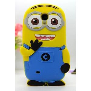 Силиконовый дизайнерский фигурный чехол миньон для Samsung Galaxy S4 Mini
