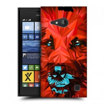 Пластиковый матовый дизайнерский чехол с принтом для Nokia Lumia 730/735