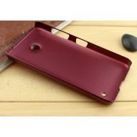 Пластиковый матовый металлик чехол для Nokia Lumia 630 Красный