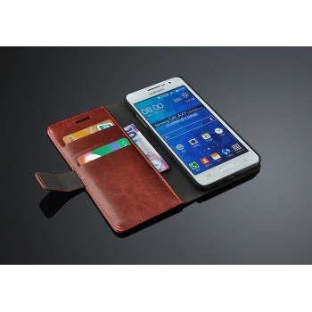 Чехол портмоне подставка с защелкой назад для Samsung Galaxy Grand Prime