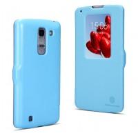 Чехол флип с окном вызова для LG G Pro 2 Голубой