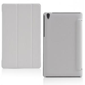 Чехол флип подставка сегментарный на поликарбонатной основе для Lenovo Tab S8 Белый