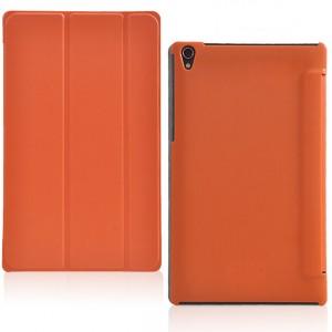 Чехол флип подставка сегментарный на поликарбонатной основе для Lenovo Tab S8 Оранжевый