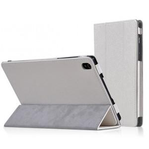 Чехол сегментарный подставка текстурный с рамочной защитой серия Full Cover для Lenovo Tab S8 Белый