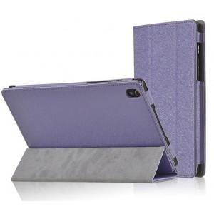 Чехол сегментарный подставка текстурный с рамочной защитой серия Full Cover для Lenovo Tab S8 Фиолетовый