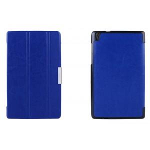 Чехол флип подставка сегментарный для Lenovo Tab S8 Синий