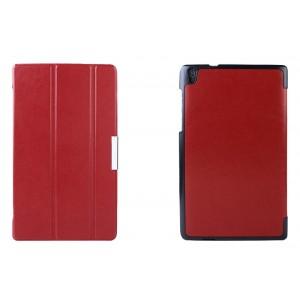 Чехол флип подставка сегментарный для Lenovo Tab S8 Красный