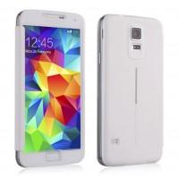 Встраиваемый чехол смарт флип с полноценным окном для Samsung Galaxy S5 Белый