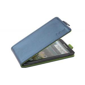 Чехол вертикальная книжка на пластиковой основе с магнитной застежкой для Lenovo P780 Синий