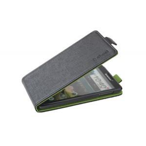 Чехол вертикальная книжка на прозрачной пластиковой основе с магнитной застежкой для Lenovo P780 Черный
