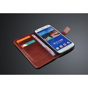Чехол портмоне подставка с крепежной застежкой для Huawei Ascend G7