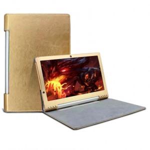 Чехол флип с рамочной защитой текстурный для Lenovo Yoga Tablet 2 Pro 13 Бежевый