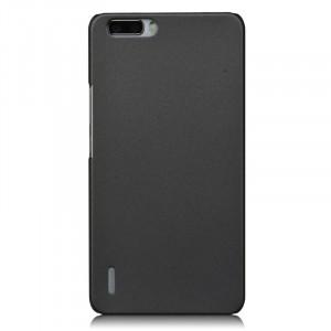 Пластиковый матовый непрозрачный чехол для Huawei Honor 6 Plus Серый