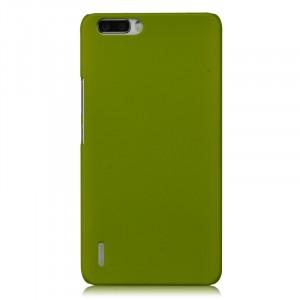 Пластиковый матовый непрозрачный чехол для Huawei Honor 6 Plus Зеленый