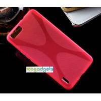 Силиконовый X чехол для Huawei Honor 6 Plus Пурпурный