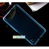 Силиконовый матовый полупрозрачный чехол для Huawei Honor 6 Plus Голубой