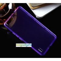 Силиконовый матовый полупрозрачный чехол для Huawei Honor 6 Plus Фиолетовый