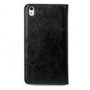 Чехол портмоне из вощеной кожи для HTC Desire 816 Черный