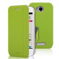 Текстурный чехол флип подставка с застежкой и внутренними карманами для Lenovo A706 Зеленый