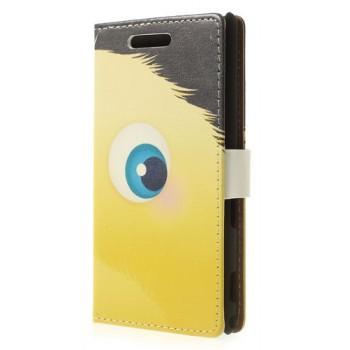 Принтованный чехол портмоне подставка с защелкой для Sony Xperia M2 dual