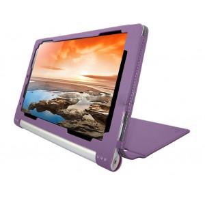 Чехол флип текстурный с рамочной защитой серия Full Cover для Lenovo Yoga Tablet 10 HD+ Фиолетовый