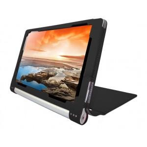 Чехол флип текстурный с рамочной защитой серия Full Cover для Lenovo Yoga Tablet 10 HD+ Черный