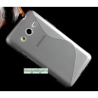 Силиконовый S чехол для Samsung Galaxy Core 2 Серый