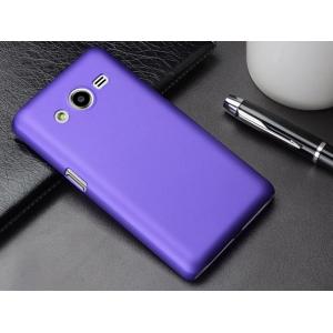 Пластиковый матовый металлик чехол для Samsung Galaxy Core 2 Фиолетовый