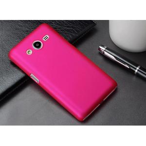Пластиковый матовый металлик чехол для Samsung Galaxy Core 2 Пурпурный