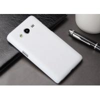 Пластиковый матовый металлик чехол для Samsung Galaxy Core 2 Белый