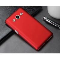 Пластиковый матовый металлик чехол для Samsung Galaxy Core 2 Красный