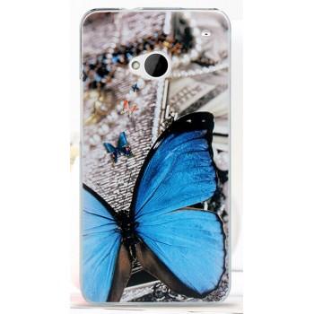 Пластиковый матовый дизайнерский чехол с принтом для HTC One (М7) Dual SIM