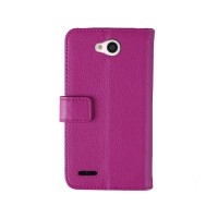 Чехол портмоне-подставка для LG L80 Пурпурный