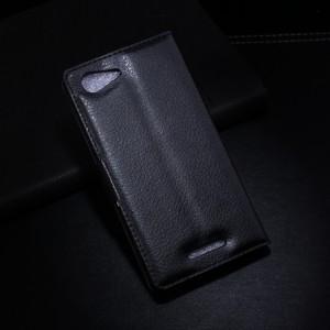 Чехол портмоне подставка с защелкой для Sony Xperia E3