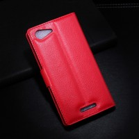 Чехол портмоне подставка с защелкой для Sony Xperia E3 Красный