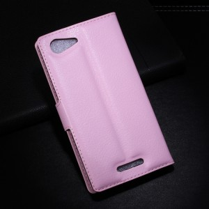 Чехол портмоне подставка с защелкой для Sony Xperia E3 Розовый