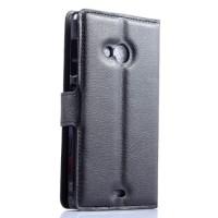 Чехол портмоне подставка с защелкой для Microsoft Lumia 535 Черный