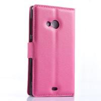 Чехол портмоне подставка с защелкой для Microsoft Lumia 535 Пурпурный