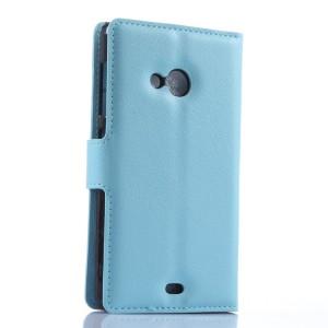 Чехол портмоне подставка с защелкой для Microsoft Lumia 535 Голубой