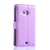 Чехол портмоне подставка с защелкой для Microsoft Lumia 535 Фиолетовый