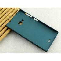 Пластиковый матовый металлик чехол для Microsoft Lumia 535 Зеленый