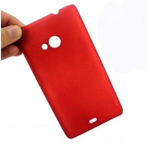 Пластиковый матовый металлик чехол для Microsoft Lumia 535