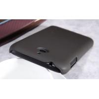 Пластиковый матовый нескользящий премиум чехол для HTC Desire 510 Бежевый