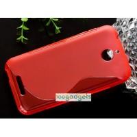 Силиконовый S чехол для HTC Desire 510 Красный