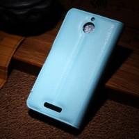 Чехол портмоне подставка с защелкой для HTC Desire 510 Голубой