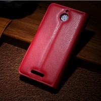 Чехол портмоне подставка с защелкой для HTC Desire 510 Красный