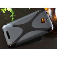 Силиконовый X чехол для HTC Desire 510 Черный