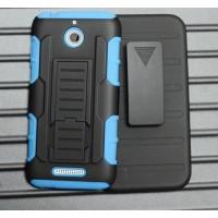 Силиконовый чехол экстрим защита с поликарбонатными вставками и функцией подставки для HTC Desire 510 Голубой