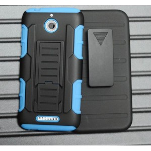 Силиконовый чехол экстрим защита с поликарбонатными вставками и функцией подставки для HTC Desire 510