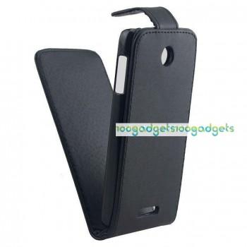 Чехол вертикальная книжка на пластиковой основе с магнитной застежкой для HTC Desire 510